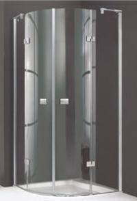 4-угольная распашная дверь Huppe с неподвижными сегментами для углового входа